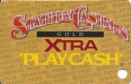 Station Casinos Las Vegas, NV - Slot Card Copyright 2001 - Gold Xtra Play Cash BLANK - Casino Cards