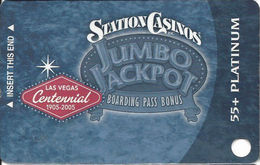 Station Casinos Las Vegas, NV - Slot Card Copyright 2005 - Platinum Centennial 55+ BLANK - Casino Cards