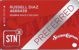 Station Casinos Las Vegas, NV - Slot Card Copyright 2014 - Preferred - Casino Cards