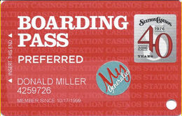 Station Casinos Las Vegas, NV - Slot Card Copyright 2016 - Preferred / My Generation Sticker - Casino Cards