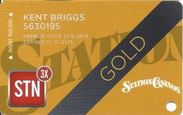 Station Casinos Las Vegas, NV - Slot Card Copyright 2014 - Gold - Casino Cards