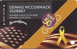 Station Casinos Las Vegas, NV - Slot Card Copyright 2014 - Gold Veterans / 50+ Senior Tuesday - Casino Cards