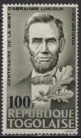 TOGO - Centenaire De La Mort D'Abraham Lincoln Poste Aérienne - Togo (1960-...)