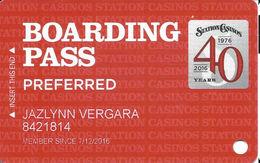 Station Casinos Las Vegas, NV - Slot Card Copyright 2016 - Preferred - Casino Cards