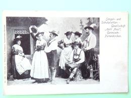 "Germany 1900 - 1920 Postcard Traditional Costumes """"Helli Nazi"""" - Garmisch_Partenkirchen - Brieven En Documenten"