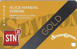 Station Casinos Las Vegas, NV - Slot Card Copyright 2015 - Gold - Casino Cards