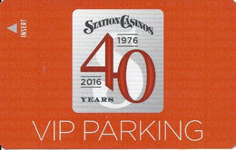 Station Casinos Las Vegas, NV - Parking Card - Copyright 2016 - Exp 12/31/16 - Casino Cards