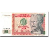 Billet, Pérou, 50 Intis, 1987, 1987-06-26, KM:131a, SPL+ - Pérou