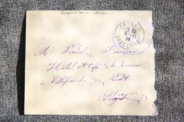 Lettre En Franchise Militaire De ORANGE Vers VILLEFRANCHE De PANAT (12) - Guerre De 1914-18