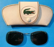 CLIP SOLAIRE POUR LUNETTES AVEC ETUI CROCODILE LACOSTE - Sun Glasses