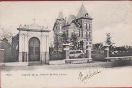 Melle Chapelle De St. Antoine Et Villa Louise ZELDZAAM 1905 (in Zeer Goede Staat) Reclame Bonnetrie Gand Gent - Melle