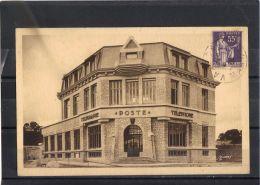 50244 . VALOGNES . LE NOUVEL HOTEL DES POSTES  . (recto/verso)  ANNEE  1938 - Valognes