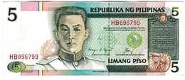 Philippines - Billet De 5 Piso - E. Aguinaldo - Philippines