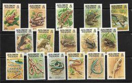 SALOMON 1979 SERPENTS-TORTUES REPTILES  YVERT N°378/93  NEUF MNH** - Reptiles & Batraciens