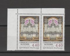 FRANCE / 1994 / Y&T N° 2890 ** : Orgue De La Cathédrale De Poitiers (x 2 En Paire) - Gomme D'origine Intacte - Neufs