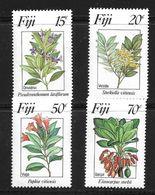 FIDJI 1984 FLEURS  YVERT N°502/05  NEUF MNH** - Végétaux