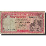 Billet, Ceylon, 5 Rupees, 1974, 1974-08-27, KM:73b, TB - Sri Lanka