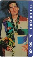11822-SCHEDA TELEFONICA - POUL ERIK HOYER-MEDAGLIA D'ORO BADMINTON ATLANTA 1996 - DANIMARCA - USATA - Jeux Olympiques