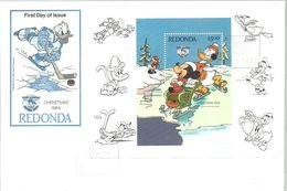 FDC  1984  REDONDA - Disney