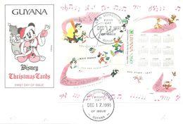 FDC  1991  GUYANA - Disney