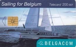 11823-TELECARD - SAILING FOR BELGIUM - BELGACOM - USED - Sport