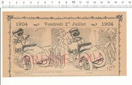 2 Scans 1904 Humour Vieux Tacots Accident De Voiture Salutations Serrer La Main Agression Rue Agent Police 216PF10XH - Unclassified