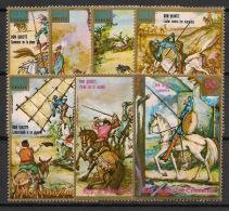 Guinée  équatoriale - 1975 - N°Mi. 551 à 557 - Don Quijote - Neuf Luxe ** / MNH / Postfrisch - Equatorial Guinea
