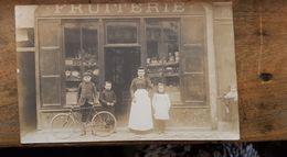 CPA Photo Rare LONGJUMEAU - 1900, FRUITERIE, 110 Grande Rue (Aujourd'hui:Rue Du Président Mitterrand, Boutique Tassili) - Longjumeau