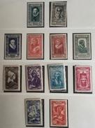 N° 587/592 Et 593/598 NEUF Sans Charnières COTE 32€ - France