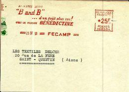 Lettre  EMA Havas Cg B And B Produit Benedictine Theme Boissons Alcool Fecamp B/1486 - Postmark Collection (Covers)