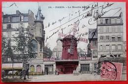 Cpa 75 PARIS 18e Anime Moulin Rouge Couleur - Paris (18)
