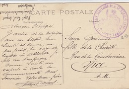 CARTE. EN FM. 2 11 14. SANITAIRE. ALENÇON POUR NICE - Postmark Collection (Covers)