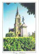 DOUZY. 2 CP L'église Et Le Monument Aux Morts - Vue Générale - Other Municipalities