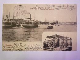 STETTIN  :  HAFEN Von Der Baumbrücke Gesehen   1903   XXXX - Poland