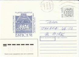 Estland 1992 Aufbrauch Von SU- Umschlägen; Brief Mit/ Letter With  MiNr. 187 Wappen P.P.X  Auf Ortsbrief Von PÄRNU - Estonia
