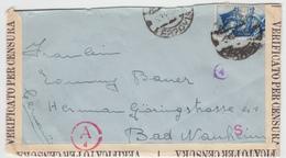 Italy - Censored Cover Sent To Germany 1941, Ref 01-135 - 1900-44 Vittorio Emanuele III