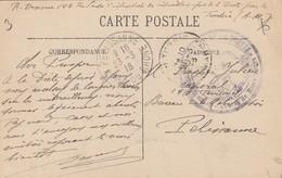 CARTE. EN FM. 23 3 16. 6° BATAILLON DE CHASSEURS DE LA DRETTE CENTRE DE MITRAILLEURS. LA TURBIE POUR PELISSANNE - Postmark Collection (Covers)