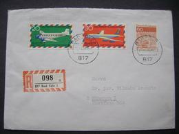 R Brief Einschreiben 1969 - BAD TÖLZ Nach München - 50 Jahre Deutscher Luftpostverkehr 20+30 Pf, Neubrandenburg 60 Pf - [7] Federal Republic