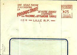 Lettre  EMA Havas Cg  Machine Affranchir Service Courrier Theme Poste Metier  B/1491 - Postmark Collection (Covers)