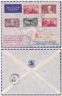 FRANCE -Inauguration Service Aérien PARIS 4/8/1938 - HANOI - HONG KONG Avec 10 Frs Atlantique Sud (Yvert 321) Paris 3/8 - France