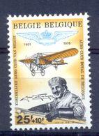 BELGIUM . 1976. 75th ANNIVERSARY OF ROYAL BELGIUM AEROCLUB 1809 MNH ** - Belgium