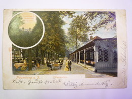 NAUMBURG A. S.  :  Bürgergarten  -  Carte  Couleur  1903 - Naumburg (Saale)