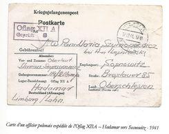 POLOGNE Formulaire De Prisonnier  > Oflag XII A - HADAMAR 1941 - 1939-44: 2ème Guerre Mondiale