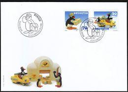 Switzerland 1999 / Pingu / Comics, Postman, Post / FDC - FDC