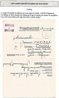 BELGIQUE Formulaire De Prisonnier Belge  Sous Camp De LEMBERG Dépendant Du Camp Diiscipl. De Rawa-Ruska 1942 - WW II