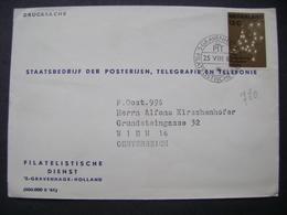 Netherland Cover 1962 'S. GRAVENHAGE FILATELISTISCHE DIENST To Wien Vienna Austria, Automatisering Telefoonnet....12 C - Covers & Documents