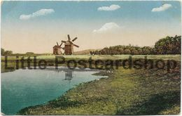 AK Les Typs Et Les Vues Du Ukraina 2 Moulins Windmühlen Ukraine Feldpost 1917 Widoki I Typy Ukrainy - Guerre 1914-18