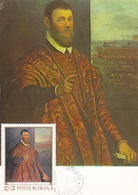 Carte-Maximum ROUMANIE  N° Yvert 2489 (LE TINTORET - Sénateur De Venise) Obl Sp 1er Jour - Cartoline Maximum