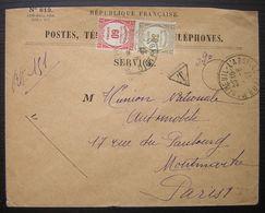 1927 Lettre Taxée De Montreuil L'argillé Postes Télégraphes Et Téléphones - Lettres Taxées