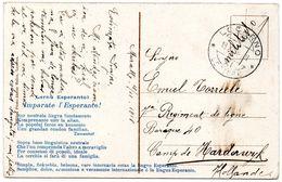 Militaire Post - Verzonden Van Locarno Naar Camp De Harderwijk (Hollande) STERSTEMPEL - 1918 - Poste Militaire